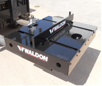 Waldon die handler forklift attachment