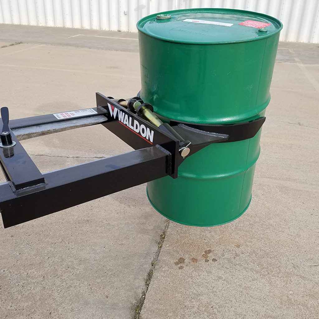 Grip O Drum handler attachment for both forklifts and loaders
