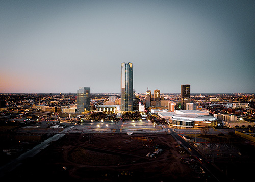 a view of downtown oklahoma city
